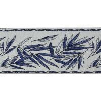 Бордюр для штор TY1909-8 темно синий 9 см/25 м