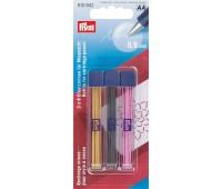 Грифели желтые, черные и розовые для механического карандаша 610842 Prym 0.9 мм (18 шт)