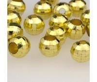 Концевик пластик 3319 (8245) золото (100 шт)