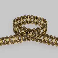 Сутаж отделочный 900-7 коричневый/золото (12 м)