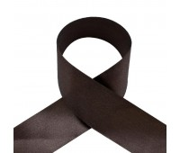 1039UN Лента атласная 50 мм темно-коричневый (33 м)