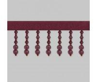 Бахрома для штор из стекляруса 158-54/B133 темно-розовый (20 м)