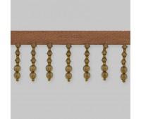 Бахрома для штор из стекляруса 158-54/B186 коричневый (20 м)