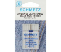 Двойная игла для джинсы NM100 NE4.0 Schmetz 130/705H-J ZWI (1 шт)