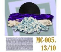 Эластичная отделочная лента 13/10 (9) MC-005 светло-сиреневая (50 ярд)