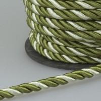 Шнур витой SH14-8 белый/зеленый (50 м)