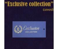 """Ярлык этикетка картонная на одежду """"Exclusive collection"""" синий (200 шт)"""