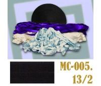 Эластичная отделочная лента 13/2 (16) MC-005 черная (50 ярд)