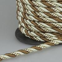 Шнур витой SH1006 бежевый/светло-коричневый (25 м)