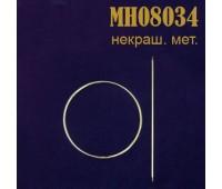 Заколка для штор Круг металлический MH08034 неокрашеный (4 шт)