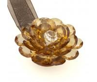 Клипса-магнит ZG светло-коричневый (большой цветок)