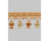 Бахрома для штор AM8040/6039-3 светло-коричневый/светлое золото (20 м)