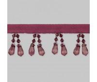 Бахрома для штор из стекляруса 158-16/B133 темно-розовый (20 м)