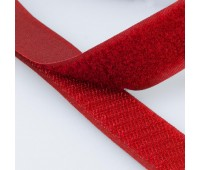 Липучка MIRTEX 25 мм красный (25 м)
