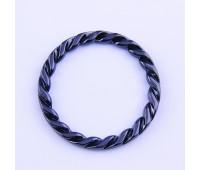 Кольцо плетенное 4339 темный никель 48/62 мм