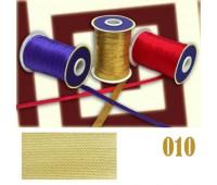 Косая бейка атласная 010 светло-желтая (уп. 132 м)