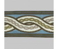 Бордюр для штор K1201-3 голубой/белый/коричневый ±12 см (25 м)
