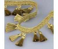 """Бахрома HT1202R-21 """"НФ"""" темное золото (25 м)"""