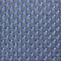 Стразы на листе 24х4см клеевые (квадрат 6х6мм) 22# синий/синий