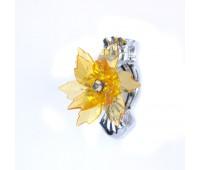 Прищепка для штор хризантема из страз HJ87953-2 золото (2 шт)