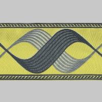 Бордюр для штор T1204-6 желтый/серый/серебро ±12 см (25 м)