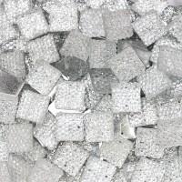 """Стразы """"зернистые"""" пришивные Квадрат 12*12 мм пластик белый (200 шт)"""