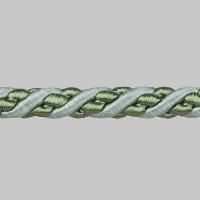 Шнур витой SH20-11 зеленый (искусственный шёлк) (25 м)