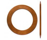 Заколка для штор дерево Круг HJ8073B-F светло-коричневый (4 шт)