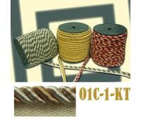 Кант шторный 01С-1-КТ золото/белый (100 м)