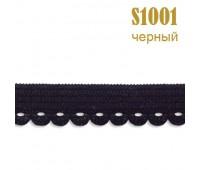Резинка кружево 1001S черный (132 м)