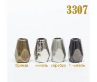 Концевик пластиковый 3307 никель (100 шт)