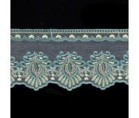 Тесьма на сетке 87-3 бирюзовый (18 м)