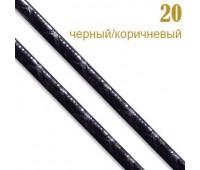 """20 черн/корич. Шнур к/з""""Рептилия""""прош.0,3см (31 м)"""
