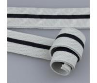 Манжет трикотажный 801 светло-серый/черный (1 шт=1 метр)