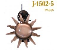 """Зажим для штор """"Лист"""" J-1501-5 медь (2 шт)"""