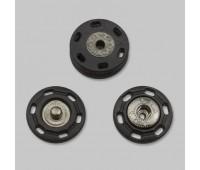 Кнопка пришивная декоративная пластик AB002 28L черная (24 шт)