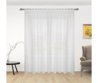 Готовая штора тюль деворе с рисунком ES10-31.2701 (580х270 см) белая