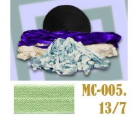 Эластичная отделочная лента 13/7 (5) MC-005 салатовая (50 ярд)