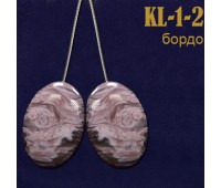 """Магниты для штор """"овал"""" KL-1-2 бордо (уп. 2 шт.)"""