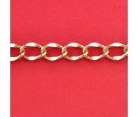 Цепь из алюминия KY2.0 (11x15,8) русское золото (91,44 м)