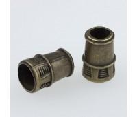 Концевик металлический 1480 бронза (100 шт)