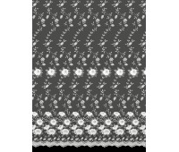 Микросетка вышивка высота 275 см (~20м) 240031 SANAL KREM V106