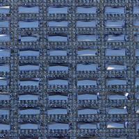 Стразы на листе 24х4см клеевые (прямоугольник 5х15мм) 40# (ф38/ц22) синий/синий