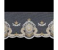 Тесьма на сетке 45 белый/золото (18 м)