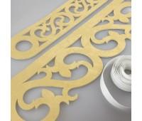 Комплект ажурных ламбрекенов светлое золото П016-25-02, длина 2,5 м