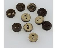 Пуговица из кокоса 2 пр. темный/коричневый (100 шт)