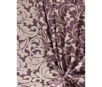 Ткань для штор блэкаут софт 2-х сторонний с рисунком WZGA1360-119 фиолетовый/пудра (25 м± )