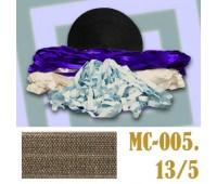 Эластичная отделочная лента 13/5 (3) MC-005 фисташковая (50 ярд)