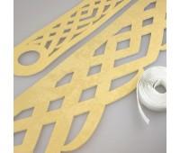 Комплект ажурных ламбрекенов светлое золото П015-30-02, длина 3 м