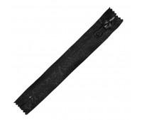 Молния водонепроницаемая 18 см черная паутинка Т7 спираль неразъемная (10 шт)